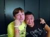 Mijk van Dijk backstage @ WIRE13 with Kengo Watanabe