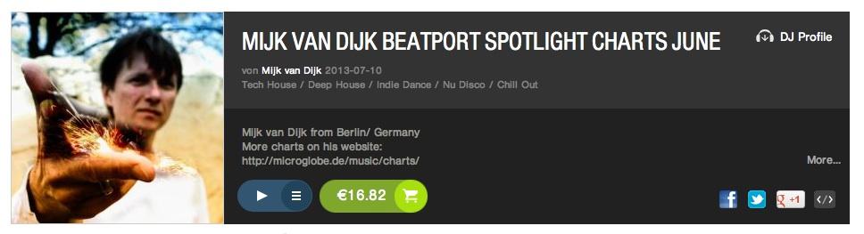 Mijk van Dijk''s beatport chart june 2013