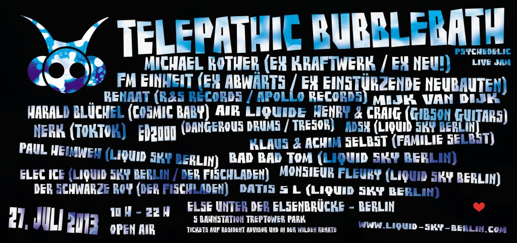 Telepathic Bubblebath Open Air flyer back