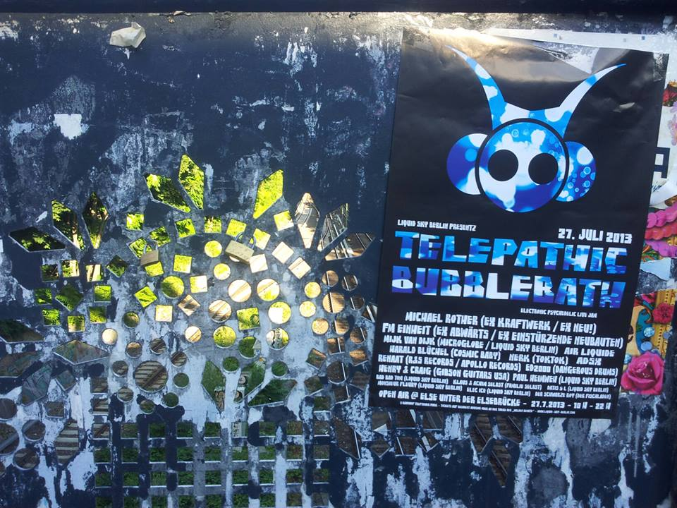 Telepathic Bubblebath Open Air Poster
