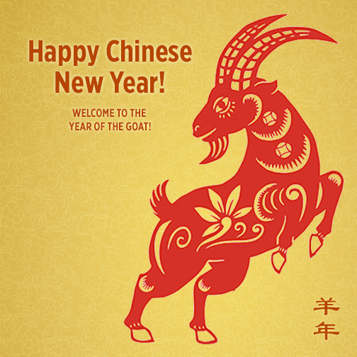 Happy Chinese Year Of The Goat