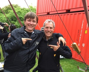 Mijk and cousin Hans
