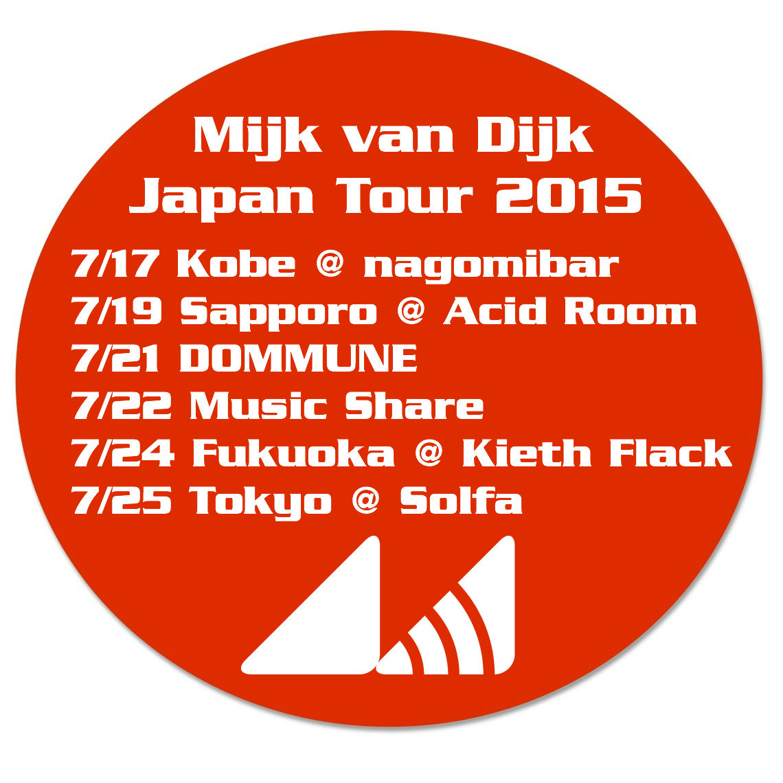 Mijk van Dijk Japan Tour 2015