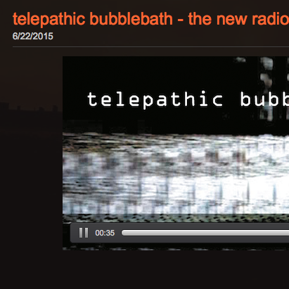 telepathic bubblebath Constant Ambient Radio Player