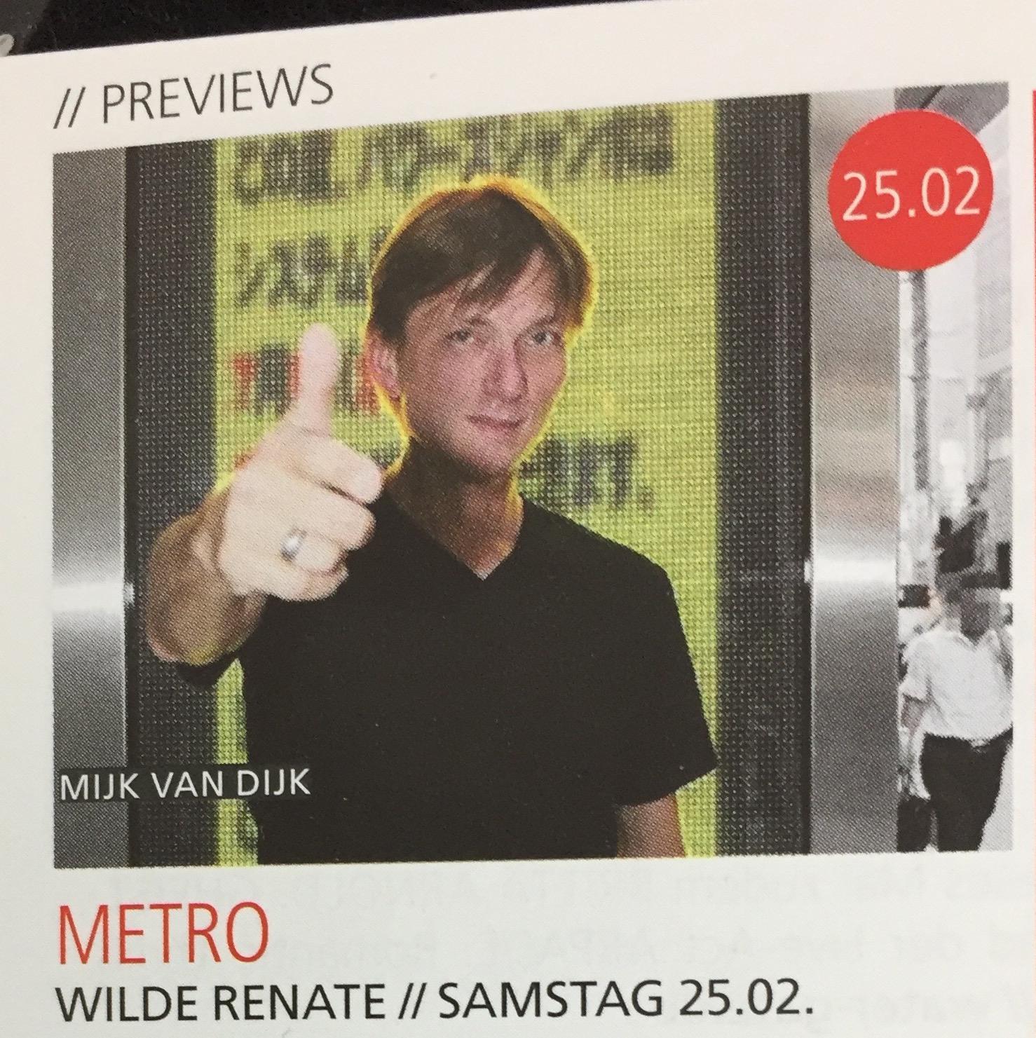 Mijk van Dijk in Freshguide Berlin