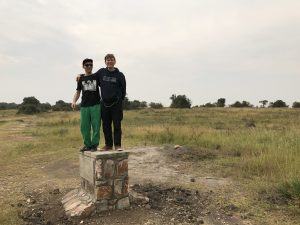 Robert and Mijk at Akagera National Park