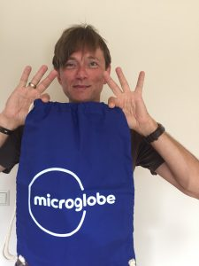 Microglobe Logo Turnbeutel 1
