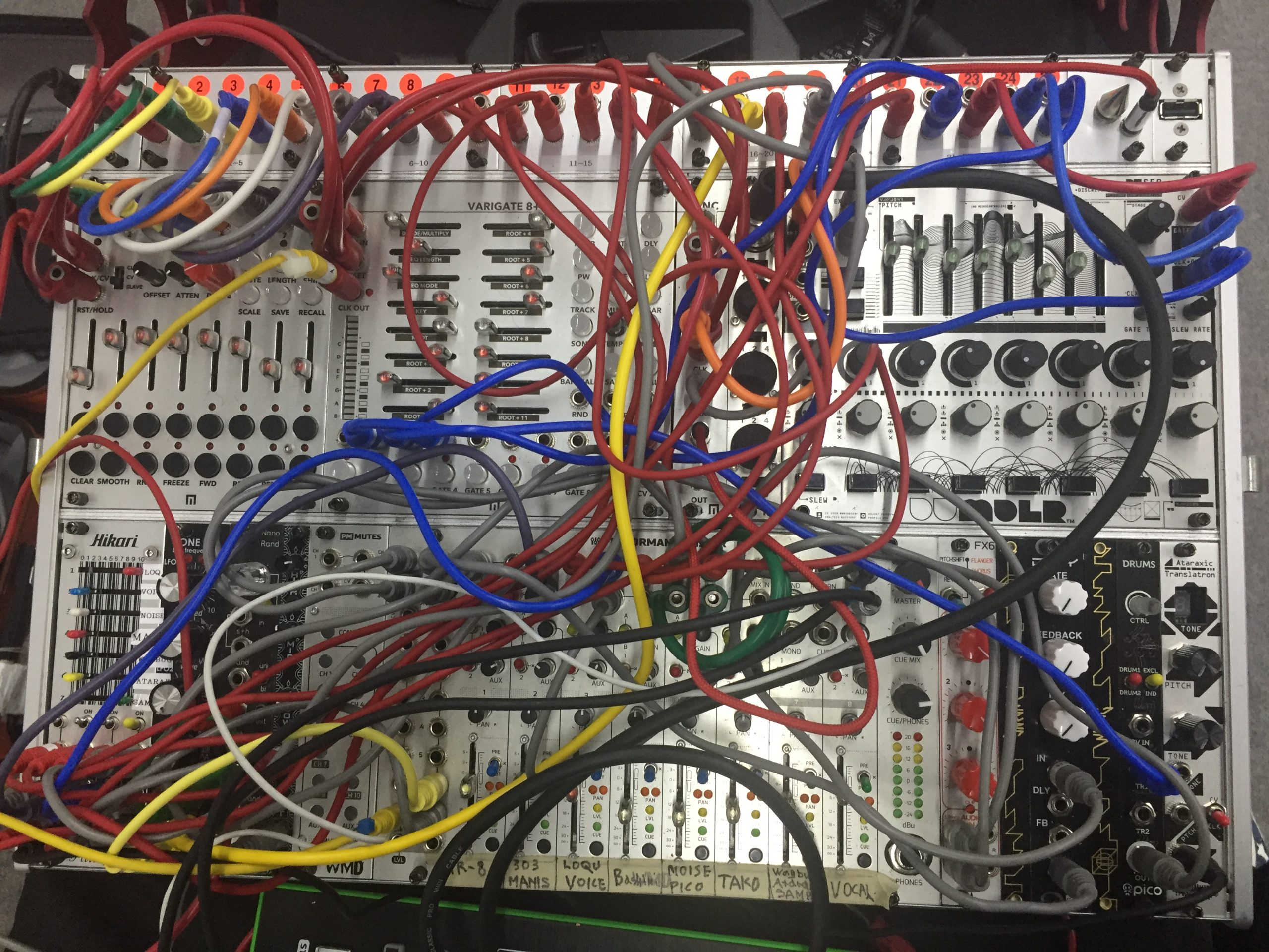 Only Galcid knows, where all those cables go