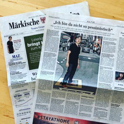Interview for Märkische Allgemeine Zeitung (MAZ)